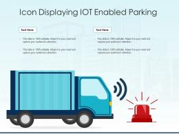 Icon Displaying IOT Enabled Parking