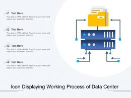 Icon Displaying Working Process Of Data Center