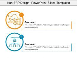 Icon Erp Design Powerpoint Slides Templates