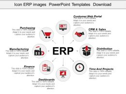 Icon Erp System Powerpoint Templates Microsoft