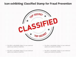 Icon Exhibiting Classified Stamp For Fraud Prevention