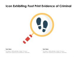 Icon Exhibiting Foot Print Evidence Of Criminal