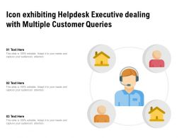 Icon Exhibiting Helpdesk Executive Dealing With Multiple Customer Queries
