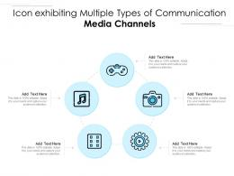 Icon Exhibiting Multiple Types Of Communication Media Channels
