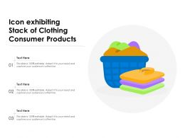 Icon Exhibiting Stack Of Clothing Consumer Products