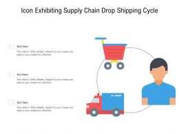 Icon Exhibiting Supply Chain Drop Shipping Cycle