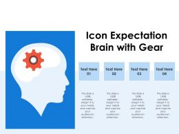 Icon Expectation Brain With Gear