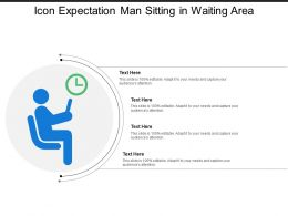 Icon Expectation Man Sitting In Waiting Area