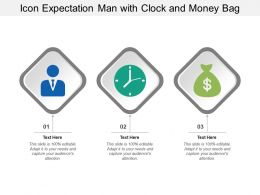 Icon Expectation Man With Clock And Money Bag