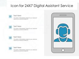 Icon For 24x7 Digital Assistant Service