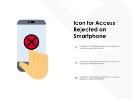 Icon For Access Rejected On Smartphone