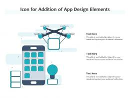 Icon For Addition Of App Design Elements