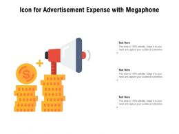 Icon For Advertisement Expense With Megaphone