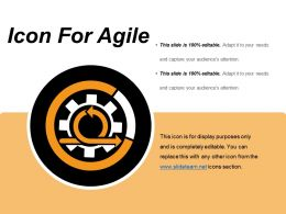 Icon For Agile Ppt Diagrams