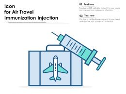 Icon For Air Travel Immunization Injection
