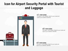 Icon For Airport Security Portal With Tourist And Luggage