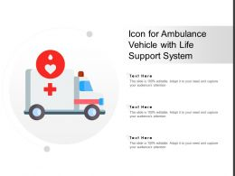 Icon For Ambulance Vehicle With Life Support System