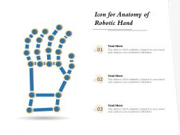 Icon For Anatomy Of Robotic Hand