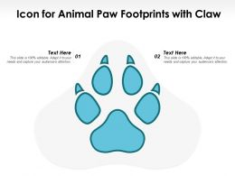 Icon For Animal Paw Footprints With Claw