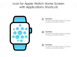 Icon For Apple Watch Home Screen With Applications Shortcuts
