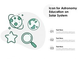 Icon For Astronomy Education On Solar System