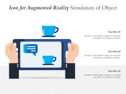 Icon For Augmented Reality Simulation Of Object