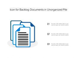 Icon For Backlog Documents In Unorganized Pile