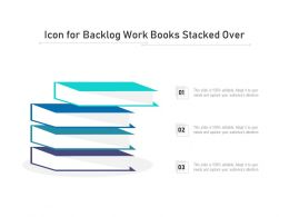 Icon For Backlog Work Books Stacked Over