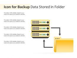 Icon For Backup Data Stored In Folder