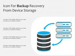 Icon For Backup Recovery From Device Storage
