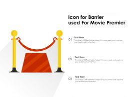 Icon For Barrier Used For Movie Premier