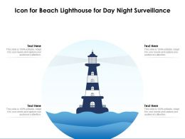 Icon For Beach Lighthouse For Day Night Surveillance