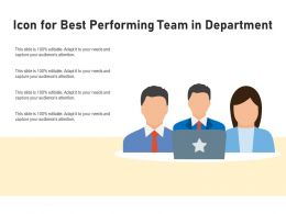 Icon For Best Performing Team In Department