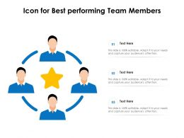 Icon For Best Performing Team Members