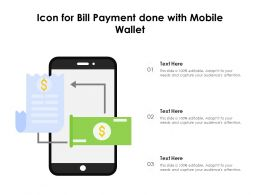 Icon For Bill Payment Done With Mobile Wallet