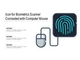 Icon For Biometrics Scanner Connected With Computer Mouse