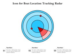 Icon For Boat Location Tracking Radar