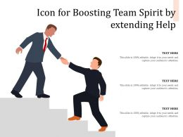 Icon For Boosting Team Spirit By Extending Help