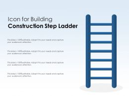 Icon For Building Construction Step Ladder