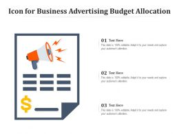 Icon For Business Advertising Budget Allocation