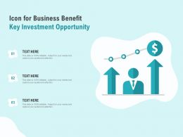 Icon For Business Benefit Key Investment Opportunity