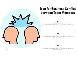 Icon For Business Conflict Between Team Members