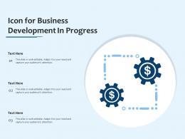 Icon For Business Development In Progress