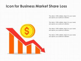 Icon For Business Market Share Loss