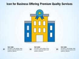 Icon For Business Offering Premium Quality Services