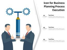 Icon For Business Planning Process Execution