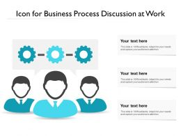 Icon For Business Process Discussion At Work