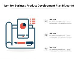 Icon For Business Product Development Plan Blueprint
