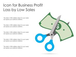 Icon For Business Profit Loss By Low Sales