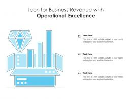 Icon For Business Revenue With Operational Excellence